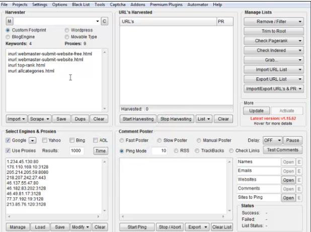 Protégé: Explorer en partie le netlinking d'un concurrent avec Scrapebox!